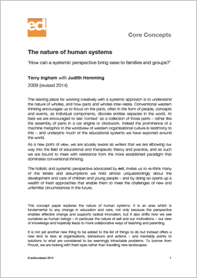 The nature of human systems